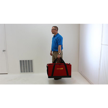 Carrying Ductester to jobsite